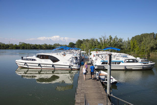 Hausboot-Hafen in Casale sul Sile