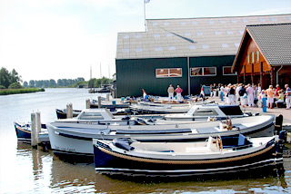 Hausboot-Hafen in Warmond