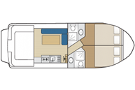 New Concorde Fly 890 Twins - Hausboot-Grundriss