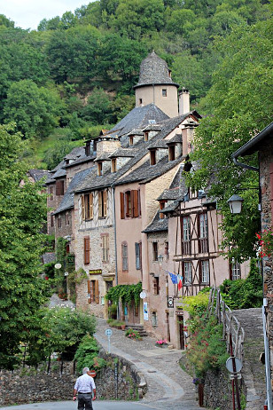 Conques am Jakobsweg